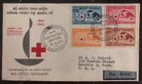 1963 Saigon Vietnam First Day Cover FDC To Seattle Wa USA Red Cross Centenary
