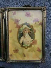 Antique Tri-Fold Shaving Mirror Excellent orig. Cond