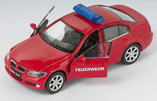 BLITZ VERSAND BMW 330i Feuerwehr rot / red Welly Modell Auto 1:34 NEU & OVP