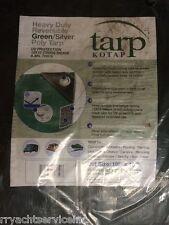 TARP GREEN POLYETHYLENE BOAT STORAGE COVER 136 97061G 10FT X 15FT HEAVY DUTY