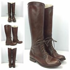 FRYE NEW Melissa Riding Lace Dark Brown Knee High Riding Boots 76437 Sz 6 $438
