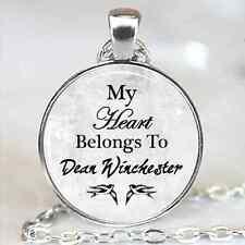 Dean Winchester Necklace Supernatural Amulet Jensen Ackles Silver Pendant New