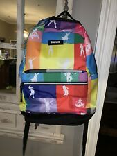 Nwt Fortnite 17 Inch Multiplier Dances Rainbow Checker School Book Bag/Backpack