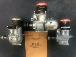 VINTAGE OHLSSON RICE RED HEAD MODEL AIRPLANE GAS GLOW ENGINE R/C CONTROL LINE