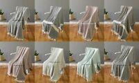 10 PC Wholesale Lot 100% Cotton Fringed Lounge Sofa Bed Throw Rug Blanket Throw