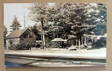1948 RPPC POSTCARD KINGS CABINS ROUTE NO 1 SACO MAINE OLD CAR MAN #001gf