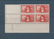 timbre France bloc de 4 coin daté  Descartes discours de la méthode num: 342 **