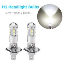 2X H1 50W High Power LED Xenon White Fog Light Daytime Lights Bulbs 6000K 12V