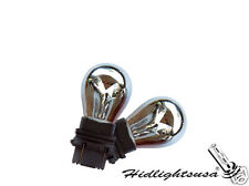 3157 3057 3156 4157 Silver Chrome Amber Light Bulbs Turn Signal Back Up Tail