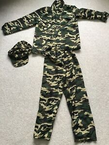 Boys Army Fancy Dress Outfit Age 7-9 Years Excellent Condition