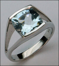 White Gold Aquamarine Ring - 14k