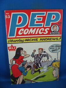 PEP COMICS 53  F+ ARCHIE THE TWIDDLES (Woggon) SUZIE SHIELD 1945 BASEBALL CVR
