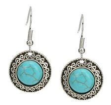 Earrings Silver Turquoise Ibiza Ethno by Ella Jonte Fashion Jewellery