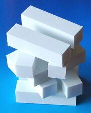 10 Buffer Schleifblock 4 Seitig weiß  Körnung 100/100