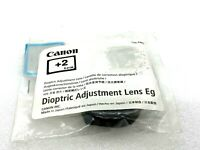 New Canon Dioptric Adjustment Lens EG (+2) for Select Canon EOS Cameras