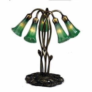 """16.5""""H Green Pond Lily 5 LT Accent Lamp"""