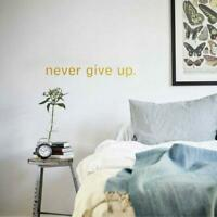 Never Give Up Wall Art Quote Stickers Motivating Vinyl Decal Bedroom Bathroom