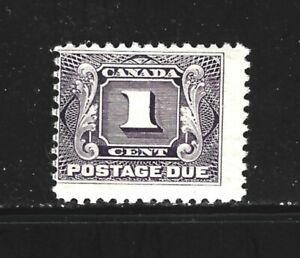 CANADA – 1900 – POSTAGE DUE ISSUE – Scott # D1 – 1 Cent, Violet - MINT
