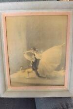 Impressionist Ballet A Von Munchhausen Vintage 1940 Framed Signed