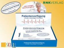 Patientenverfügung mit allen notwendigen Formularen - rechtlich geprüft