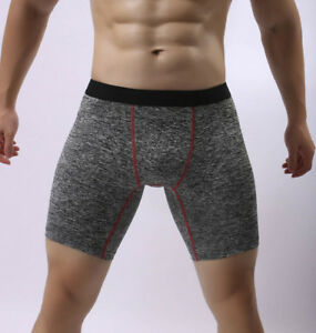 Athletic Supporter Men's Long Underwear Boxer Shorts Body Sculpting Sport Pants