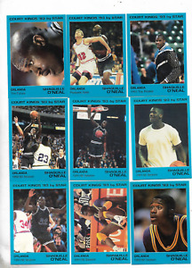 (9) SHAQUILLE O'NEAL 1993 COURT KINGS BY STAR BASKETBALL SET ONLY 750 MADE JE