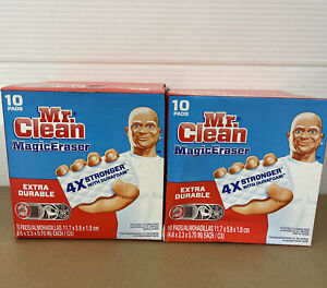 2 Pack-Mr. Clean Magic Eraser Extra Durable Cleaning Pads. 10 Count Each.