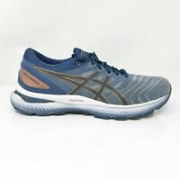 Asics Mens Gel Nimbus 22 1011A680 Blue Gray Running Shoes Lace Up Size 9.5