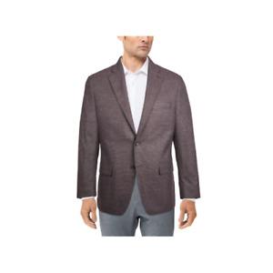 Michael Kors Men's Two Button Modern-Fit Patterned Blazer (Purple, 50R)