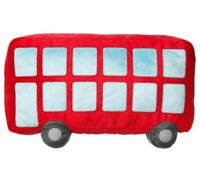 "Ikea Upptag Pillow Red Double Decker Bus Children 11"" x 18"" New"