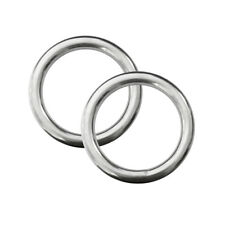 2pcs 316 Stainless Steel 5x 30mm Welded Seamless O Ring Diving Boat Hardware