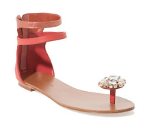 NWB $195 Adrienne Maloof for Charles Jourdan Victoria Sandals pink 7.5 jewel
