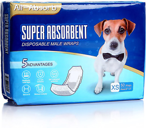 Disposable Male Dog Diapers Waist Wraps Belly Bands Pet Soft Absorbent 50 Pack