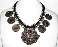 Tribalkette, Tribal-Halskette, Nomaden Halskette, Afghanische Kuchi-Kette Hippie