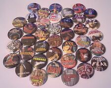 DPP39 Pin button Badges 25mm All 39 Prosecuted & Banned Video Nasty Nasties VHS