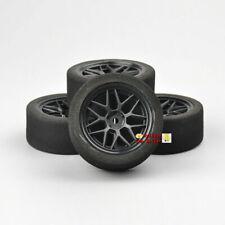 RC 4PCS 1/10 Unique Foam Tires&Wheel Rims For HSP 1:10 on-Road Model Car Tyres
