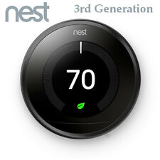 Nest Learning Thermostat 3rd Generation Gen Black WiFi T3016US