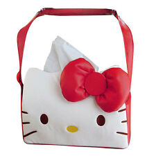 New Hello Kitty Leather Tissue Box Cover Car Accessories