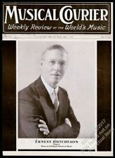 1935 Ernest Hutcheson photo Musical Courier framing cover