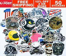 Motorbike Motorcross Stunt, Cafe Racer Stickers X50PCS, helmet, bike decals