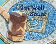 GAVEL & COIN - 12 MASONIC GREETING/NOTE CARDS - 4 Messages 5 Choices