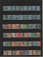 très beau lot de timbres classiques oblitérés avant 1900