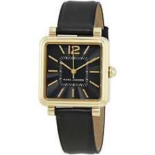 Marc Jacobs Vic Black Dial Ladies Black Leather Watch MJ1522