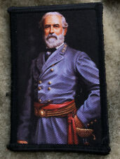 Civil War General Robert E. Lee Morale Patch Tactical Military Army Badge Hook