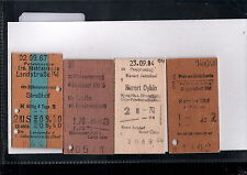 Europe Collectable Railway Tickets