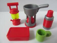 Playmobil Dollshouse/adventure accessories: Camping stove, flask, lantern NEW