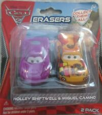 2011 Cars 2 Erasers Holley Swiftwell & Miguel Camino 2 Pack NIP