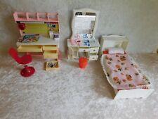 Vintage Vogue Ginny Bedroom Furniture Lot Bed Desk Vanity Dolls Nice Used Boxes