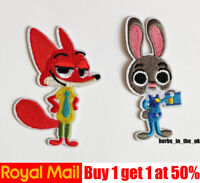 Zootropolis Zootopia Fox Rabbit Iron On Sew On Patches Badges