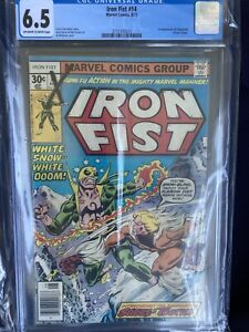Iron Fist #14 (1977) - 1st Sabretooth!  - CGC 6.5 ! - Key! Off White White Pages